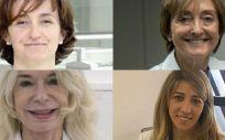 De izq. a dcha. y de arriba a abajo las doctoras Manuela Camino, Pilar Tornos, Catherine Lauwers y María de la Parte