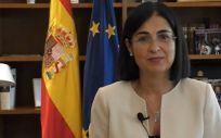 La ministra de Sanidad, Carolina Darias, en su intervención en el 71 Comité Regional OMS Euro (Foto. Ministerio de Sanidad)