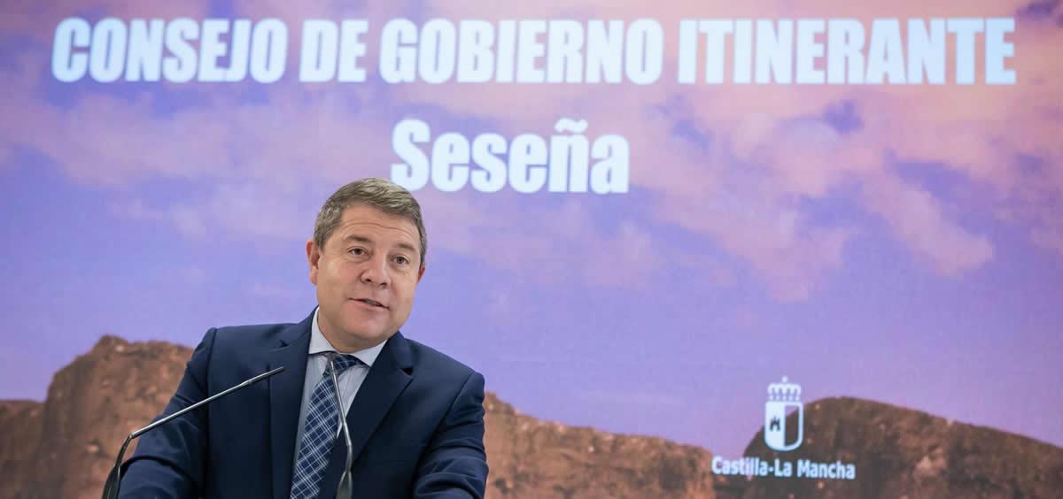 El presidente de Castilla-La Mancha, Emiliano García-Page, preside el Consejo de Gobierno itinerante en Seseña (Toledo) (Foto: JCCM)