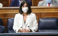 Carolina Darias, ministra de Sanidad, interviniendo en el Congreso de los Diputados (Foto: Congreso)