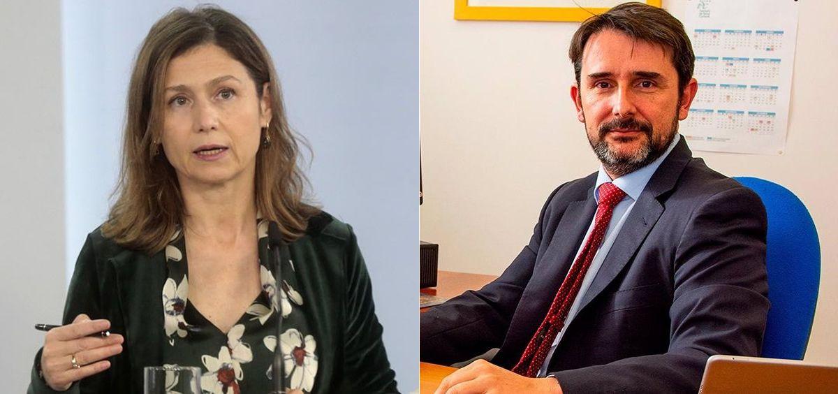 María Jesús Lamas, directora de la AEMPS, y Cristóbal Belda, director del ISCIII (Foto: Montaje ConSalud)
