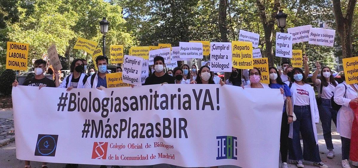 Manifestación BIR frente al Ministerio de Sanidad. Viernes 17 de septiembre de 2021. (Foto. Agustina Uhrig ConSalud