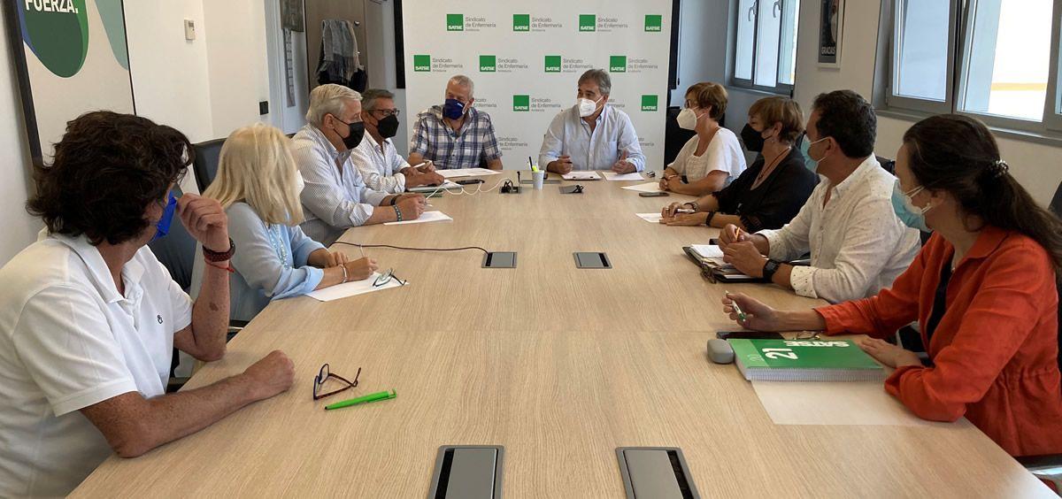 Reunión del Comité Ejecutivo Satse Andalucía, 17 de septiembre 2021 (Foto: Satse)