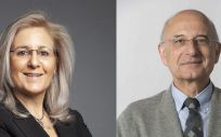 La presidenta de la Sociedad Española de Nefrología, Patricia de Sequera; y el presidente de la Sociedad Española de Cardiología, Ángel Cequier