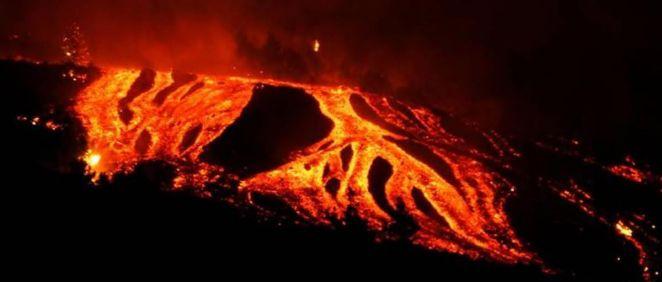 El volcán de la Palma en erupción (Foto. Europa Press)