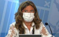 La consejera de Salud del País Vasco, Gotzone Sagardui, en la rueda de prensa posterior al Consejo de Gobierno (Foto: EP)