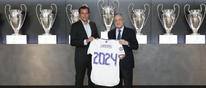 Iñaki Peralta, consejero delegado de Sanitas y Florentino Pérez, presidente del Real Madrid (Foto. Sanitas)