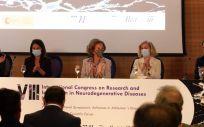 S.M. la Reina Doña Sofía inaugura el VIII Congreso de Investigación en Enfermedades Neurodegenerativas. (Foto. Fundación CIEN y CIBERNED)