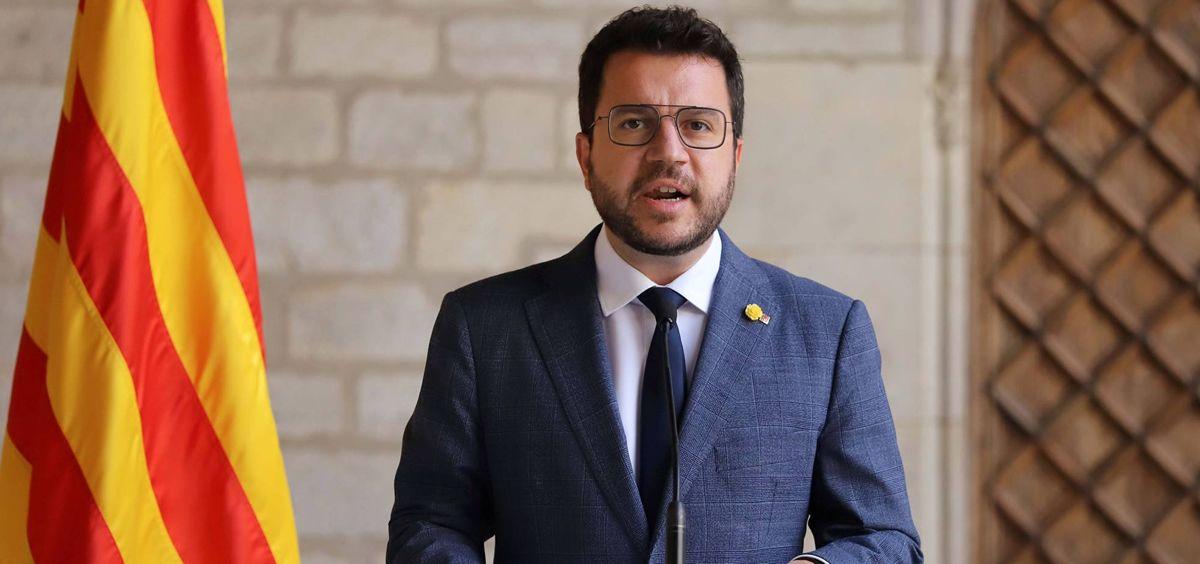 El presidente de la Generalitat de Cataluña, Pere Aragonès (Foto: Rubén Moreno)