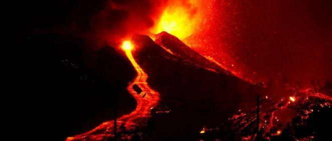 Erupción volcánica en La Palma. (Foto. Borja Suárez. Cabildo de La Palma)