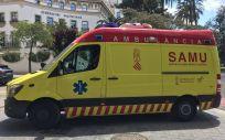 Ambulancia de SAMU, el Servicio de Ayuda Médica Urgente de la Generalitat Valenciana (Foto. SATSE)