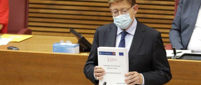 Ximo Puig presenta las líneas estratégicas en las que se centrará la acción del Consell (Foto. Generalitat Valenciana)
