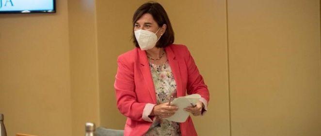 La consejera de Salud, Sara Alba, en el Parlamento de La Rioja (Foto: Gobierno de La Rioja)