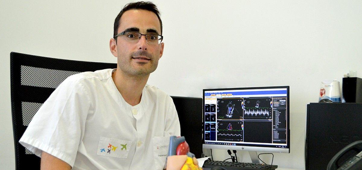 El Dr. Alfonso Valle, Jefe del Servicio de Cardiología del Hospital de Dénia. (Foto. Marina Salud)