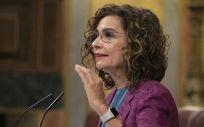 María Jesús Montero, ministra de Hacienda, interviniendo en el Congreso de los Diputados (Foto: Congreso)