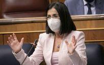La ministra de Sanidad, Carolina Darias, interviene en el Congreso (Foto: PSOE)