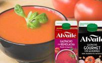 Gazpacho con remolacha y con almendras de Alvalle.