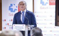 El consejero de Sanidad de la Comunidad de Madrid, Enrique Ruiz Escudero, ha dado a conocer las líneas estratégicas del Plan Integral de Mejora de la Atención Primaria (Foto: Comunidad de Madrid)