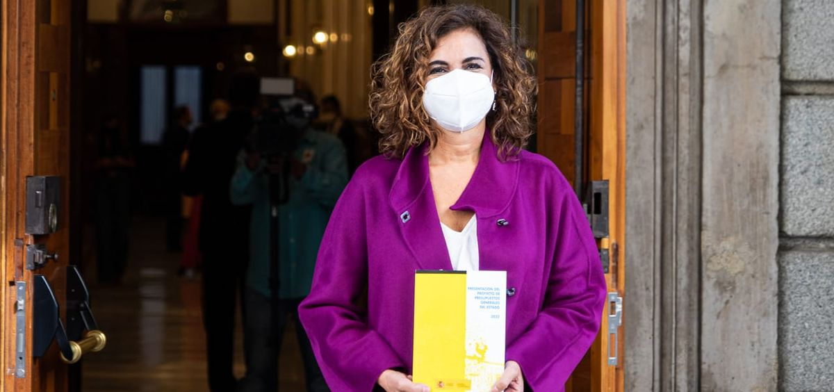María Jesús Montero, ministra de Hacienda, presenta los Presupuestos Generales del Estado (PGE) de 2022 (Foto: La Moncloa)