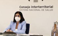 La ministra Carolina Darias preside el Consejo Interterritorial del 13 de octubre (Foto. Pool Moncloa,  Fernando Calvo)