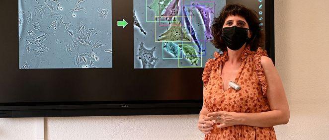 Una de las investigadoras principales del proyecto, Arrate Muñoz Barrutia, profesora del Dpto. de Bioingeniería e Ing. Aeroespacial de la UC3M (Foto: Gregorio Marañón)