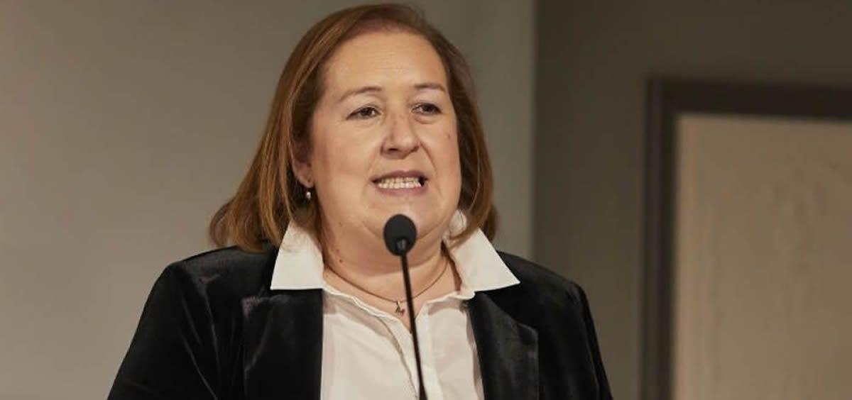 La presidenta del Colegio Oficial de Farmacéuticos de Navarra, Marta Galipienzo (Foto: Cofna)