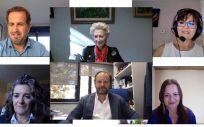 De izquierda a derecha y de arriba abajo: Fernando López Bertrán de Lis, Pilar Fernández, Eva Alman Ruiz, Soledad Ochandorena, Íñigo Lapetra y Virginia González Ojeda (Foto. CGE)