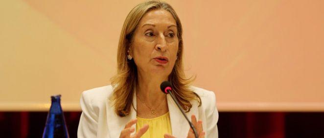 Ana Pastor, durante su intervención (Foto. FEDOP)
