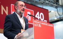 Javier Lambán, presidente de Aragón (Foto: @JLambanM)