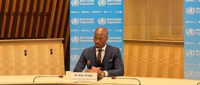 El exjugador de fútbol Didier Drogba, nuevo embajador de la OMS para el Deporte y la Salud (Foto: OMS)