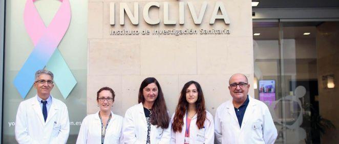 De izq a drcha: Damián Mifsut, Loreto Suay, Rosa Aliaga, Clara Pertusa y Miguel Ángel García (Foto: Incliva)