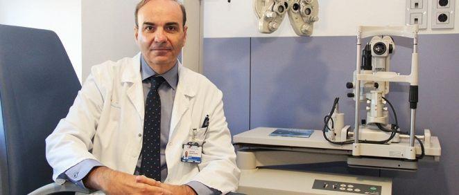 Dr. Gegúndez, oftalmólogo del Clínico San Carlos. (Foto. Hospital Clínico San Carlos)