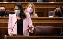 Inés Arrimadas, presidenta de Ciudadanos, en el Congreso (Foto: Cs)