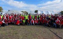 Participantes en el simulacro (Foto. AECID)