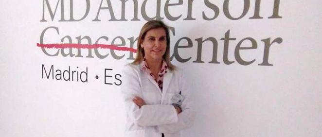 La doctora Natalia Carballo, jefa de Servicio de Oncología Radioterápica del Hospital MD Anderson