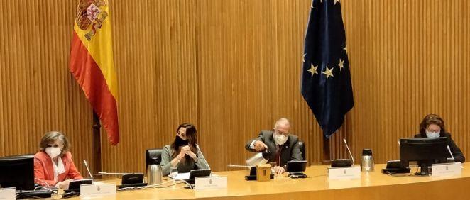 Los portavoces de Sanidad en el Congreso de los Diputados de PSOE, PP, Vox y Unidas Podemos (Foto. ConSalud.es)