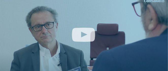 Josep Pomar, gerente del Hospital Clínico Universitario Son Espases, durante una entrevista para ConSalud TV (Foto. ConSalud TV)