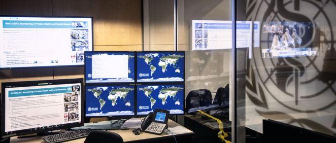 Imagen del Centro de Inteligencia sobre Pandemias y Epidemias (Foto. OMS)