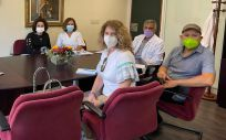 Reunión de la Gerencia Servicios Sanitarios de La Palma y miembros de AFEM-La Palma (Foto: Gobierno de Canarias)
