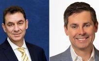 De izq. a dcha., Albert Bourla, CEO de Pfizer, y David A. Ricks, CEO de Lilly