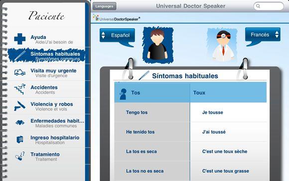 App española para la comunicación multilingüe médico-paciente