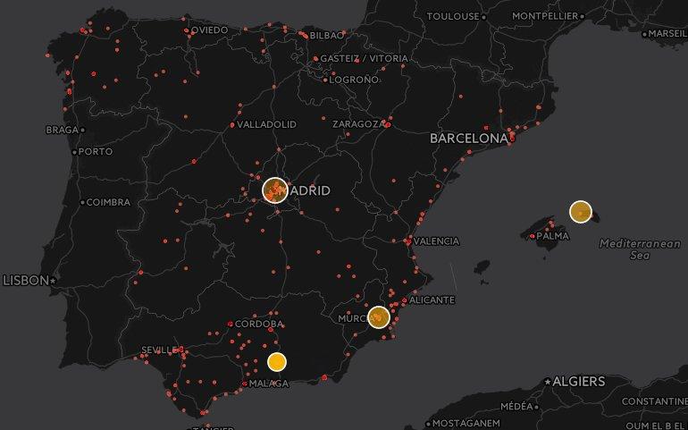 El mapa interactivo de alergias en España según Twitter