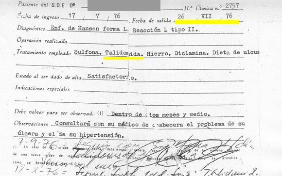 La talidomida, recetada en España años después de su anulación