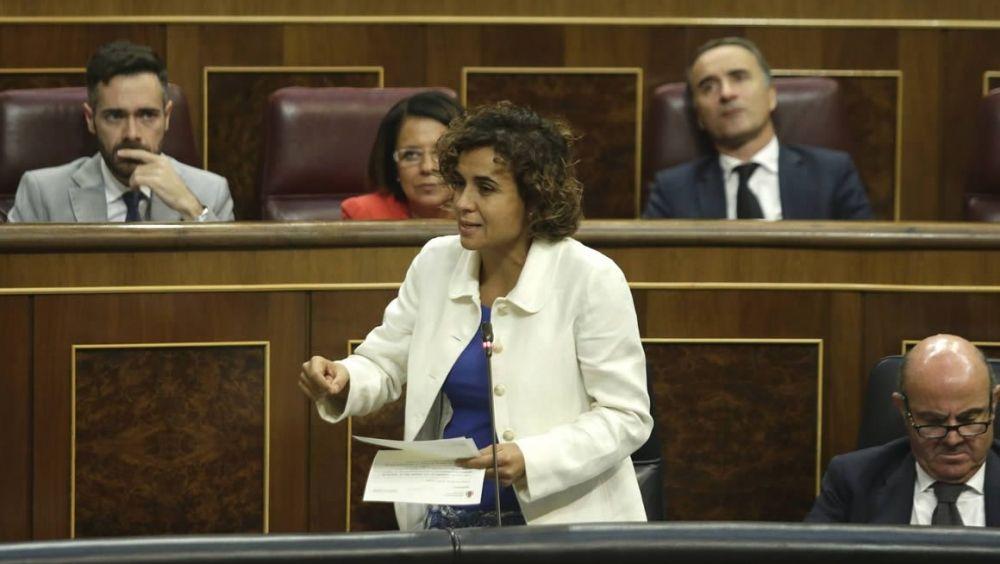 La ministra de Sanidad, Dolors Montserrat, interviene en el Congreso de los Diputados