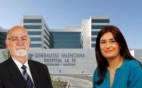 Jaime Giner, presidente del MICOF, y Carmen Montón, consejera de Sanidad de Valencia.