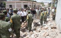 Imagen de algunas de las zonas afectadas por el terremoto