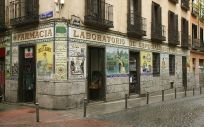 Fachada de una farmacia madrileña