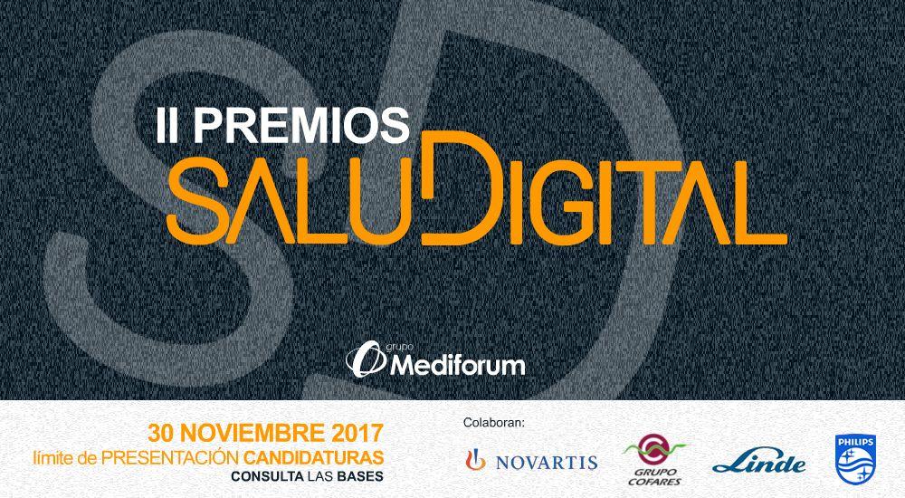 El límite para la presentación de candidaturas a los Premios SaluDigital finaliza el 30 de noviembre