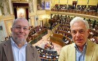 Francisco Igea y Jesús María Fernández, portavoces sanitarios de Ciudadanos y PSOE.