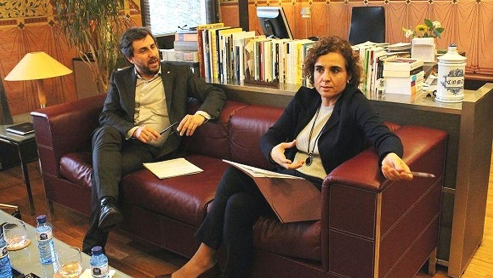 Dolors Montserrat y Antoni Comín, durante una reunión conjunta a principios de año.
